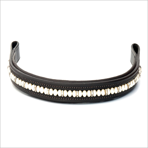 Leather Black Browband
