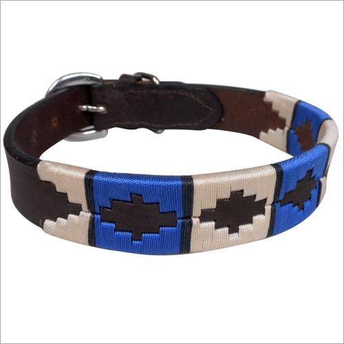Brown Leather Polo Dog Collar