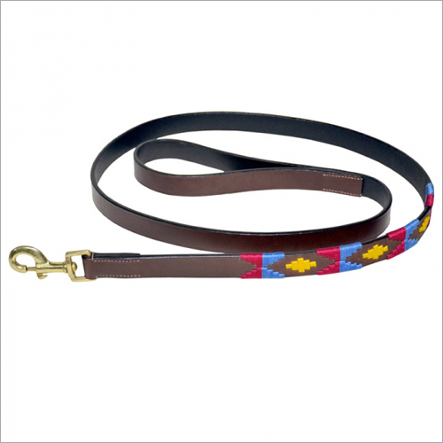 Brown Polo Dog Lead