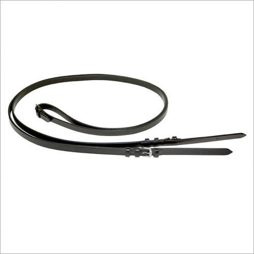 Horse Black Leather Reins