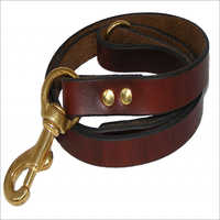 Dog Brown Leather Lead