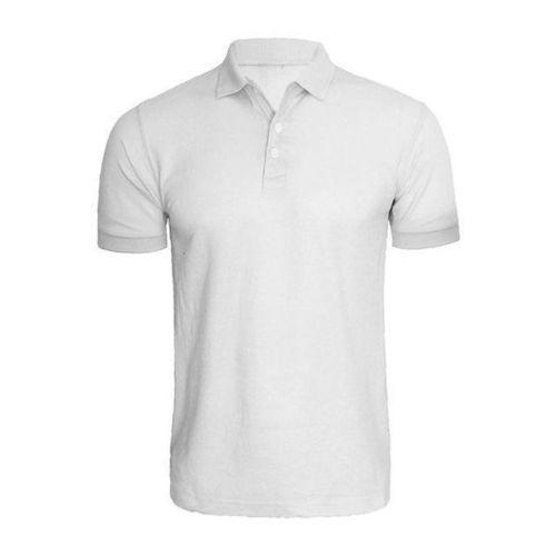 Collar Light Gray T Shirt