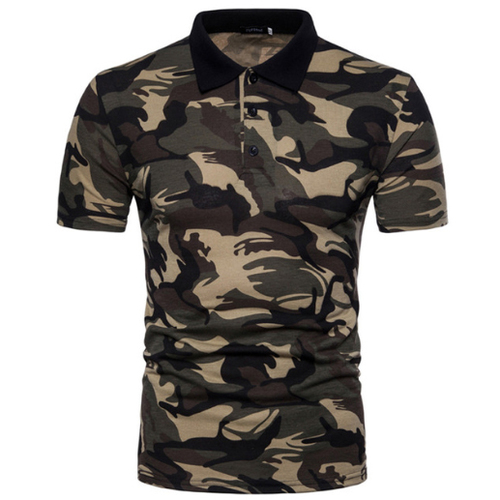 Mens Cotton Army POLO T-Shirt
