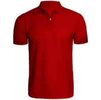 Red Plain Super Combed Polo T-Shirt   -------   Rs 200/ Piece