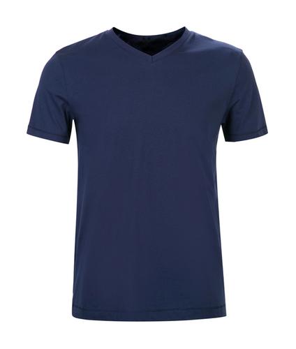 Men Solid V-Neck T-Shirt