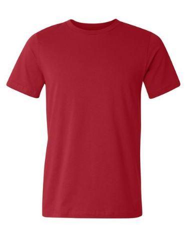 Red Plain 100% Cotton T-Shirt  --------  Rs 125/ Piece
