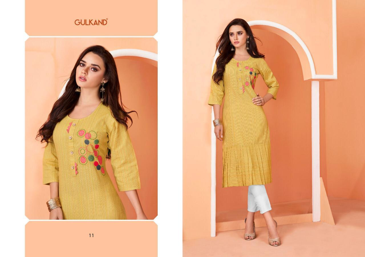 Cotton handloom embroidered kurtis