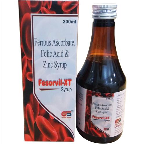 Ferrous Ascorbate, Folic Acid & Zinc Syrup
