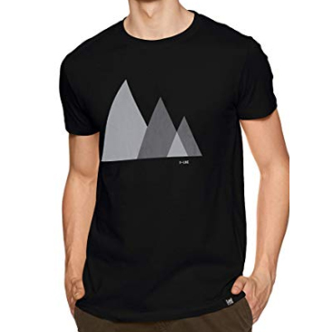 Graphic Pattern Black T-Shirt