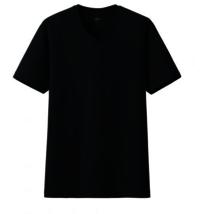 Cotton V-Neck Half Sleeve Black T-Shirt -------   Rs 125/ Piece
