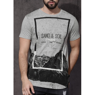 Mens Half Sleeve Printed T Shirt