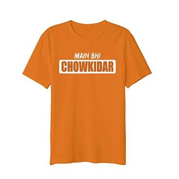 Mens Printed Orange T shirt