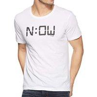 Mens Printed White T shirt