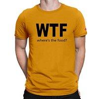 Mens Printed Yellow T Shirt