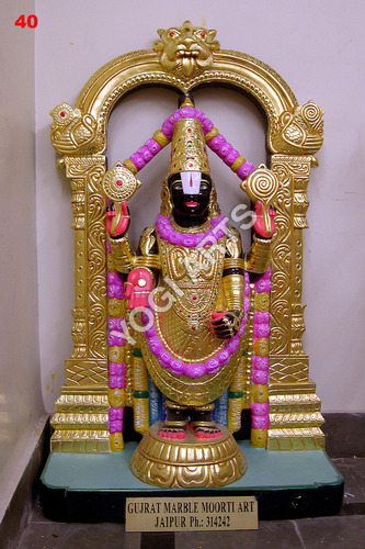 Marble Lord Laxmi Narayan Statue