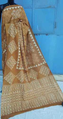 Ajrakh Print Ladies Designer Cotton Saree