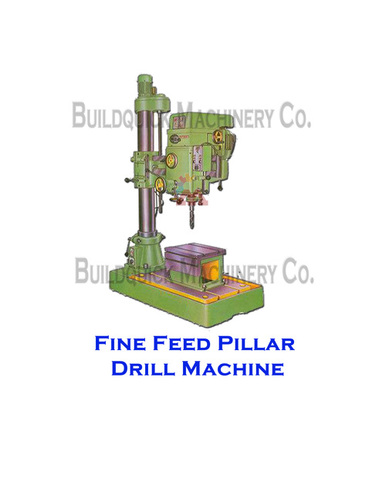 Fine Feed Pillar Drill Machine