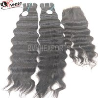 Wholesale Pure Remy Deep Curly Human Hair Weft Virgin Indian Hair Natural Hair