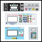 Dome control panel stickers
