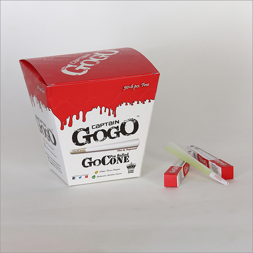 GoCone Bleached White Pre Rolled Rolling Paper