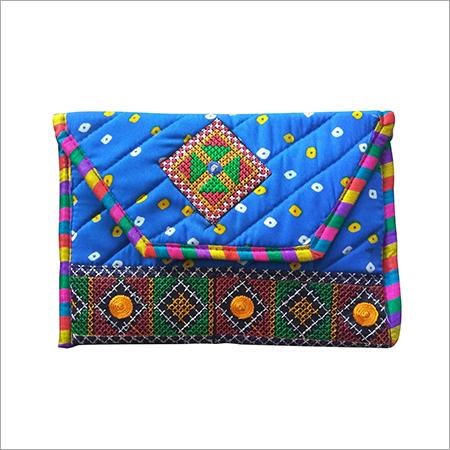 Bhandhani Embroidery Patch Purse cum Shoulder Bag