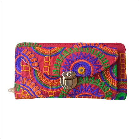 Handicraft Embroidery Box Clutch Purse