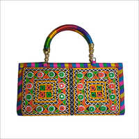 Embroidery Designer Handle Ladies Hand Bag