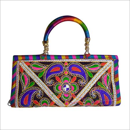 Handicraft Designer Handle Womens Hand Bag
