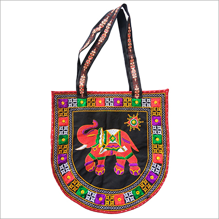 Designer Elephant Embroidery Womens Hand Bag