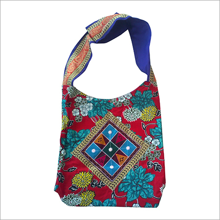 Printed Fabric Embroidery Patch Cross Body Shoulder Bag