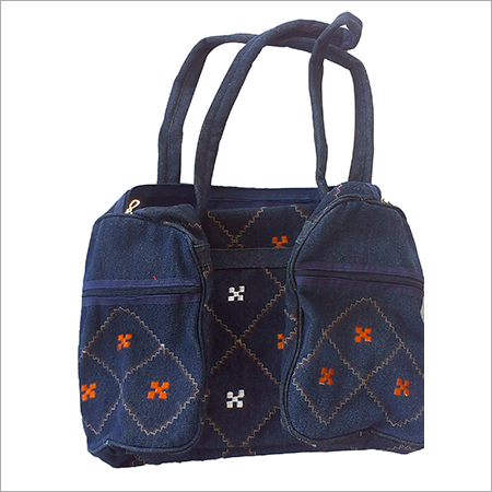 Denim Embroidery Travelling Bag