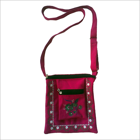 Canvas Embroidery Sling bag
