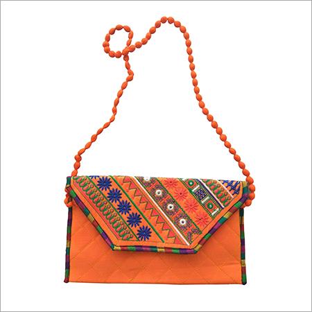 Designer Embroidery Machine Stitch Ladies Clutch Purse
