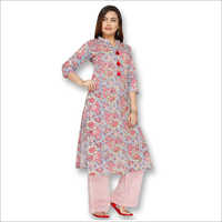 Ladies Printed Kurtis With Palazzo