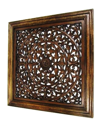 Wooden Wall Hanging Flower
