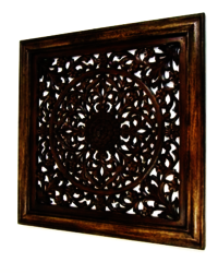 Wooden Carved Wall Panel Wall Hanging Flower