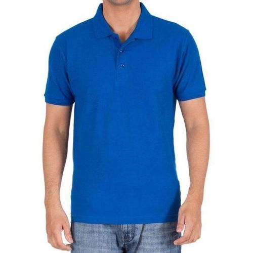 True Blue Mens Cotton Polo T-Shirt
