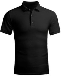 Black Plain Polo T shirt