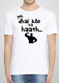 Mens Round Printed T Shirt