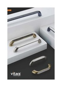 White Metal Cabinet Handles