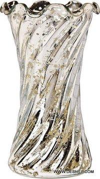 Silver Glass Flower Vase