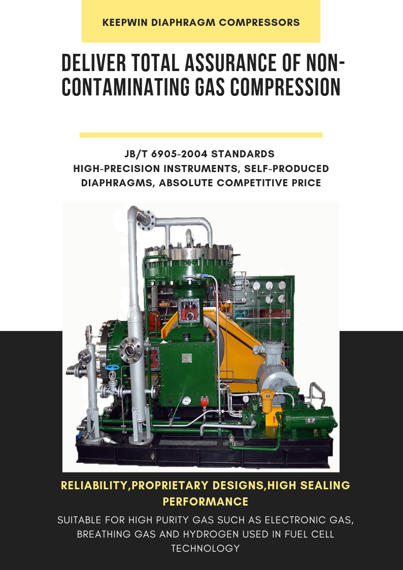Oil Free Gas Reciprocating Diaphragm Compressor