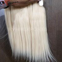 Blonde Wavy 100 Human Indian Remy Hair Extensions