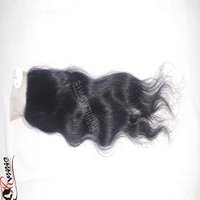 Wholesale Price Human Raw Remy Hair Body Wave Closure