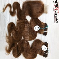 100% Remy Human Wavy Weft Hair