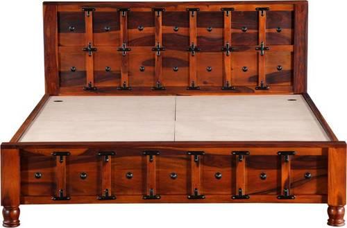 Fn bed solid Sheesham wood box king