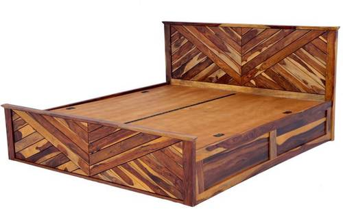 Fn bed solid sheesham wood box