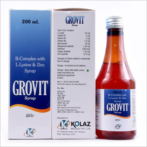 200ml B-Complex With L-Lysine And Zinc Syrup