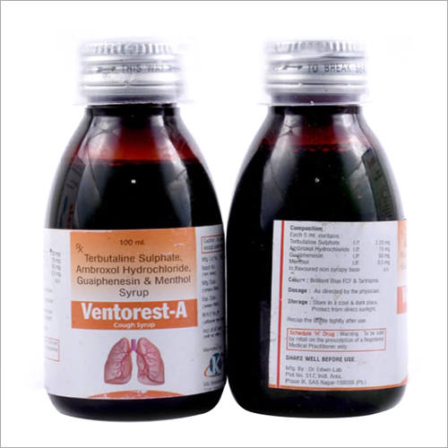 100ml Terbutaline Sulphate Ambroxol Hydrochloride Guaiphenesin And Menthol Syrup