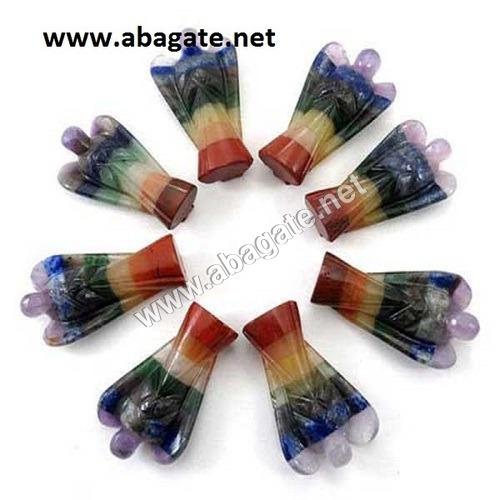 2 Inch Colored Gemstone Angels
